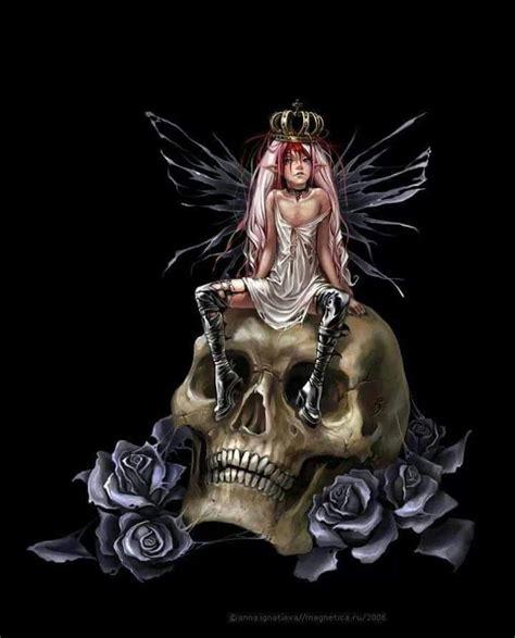 Fairy Skull Drawings