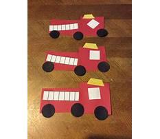 Fire truck craft preschool Video