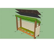 Firewood shed plans free Video