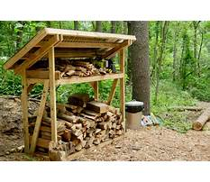 Firewood storage shed diy Video