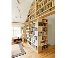 Floor to ceiling bookcase with ladder Video