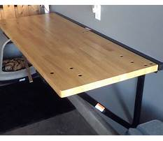 Fold up workbench on garage wall Video