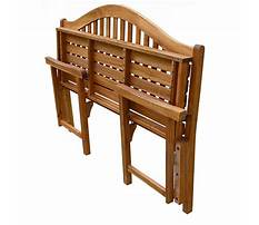 Foldable wooden bench Video