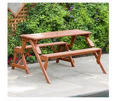 Folding picnic table benches Video