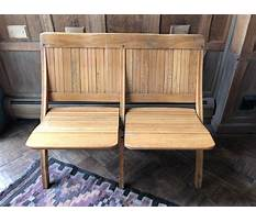 Folding wooden bench seat Video