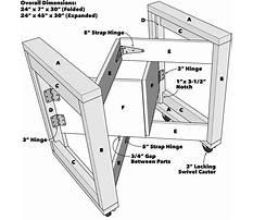Folding woodworking workbench plans Video