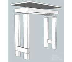 Folding writing desk plans Video
