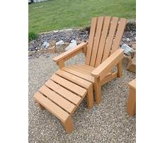 Free adirondack chair footstool plans Video