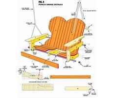 Free adirondack porch swing plans Video
