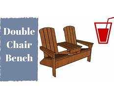 Free double adirondack chair with table plans Video