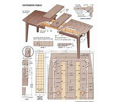 Free extension dining table plans Video