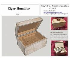 Free humidor woodworking plans Video