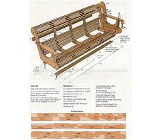Free online porch swing plans Video