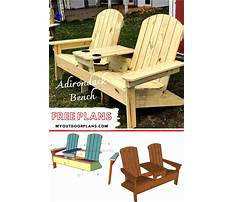 Free outdoor wood furniture plans Video