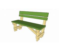 Free outdoor wooden bench plans Video