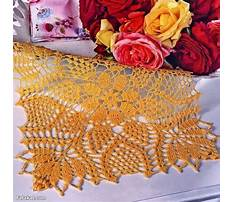 Free patterns for table runners to knit and crochet Video