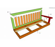 Free plans for bench swing Video