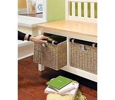 Free plans for mudroom bench Video