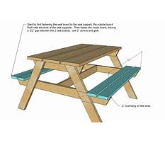 Free plans for picnic tables Video