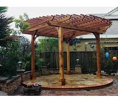 Free plans for wooden pergola kits Video