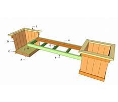 Free planter bench plans Video