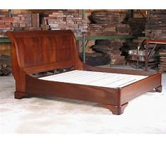 Free sleigh bed plans Video