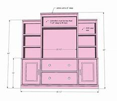 Free wood entertainment center plans Video
