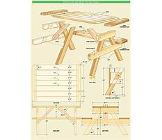 Free wooden picnic table plans Video