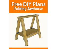 Free woodworking plans sawhorse Video