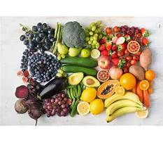 Fruit and vegetables diet menu Video