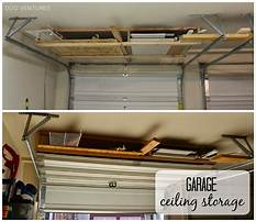 Garage ceiling shelving ideas Video
