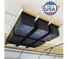 Garage overhead storage bins Video