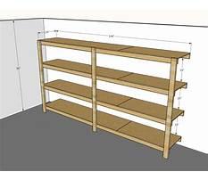 Garage wood shelf plans Video