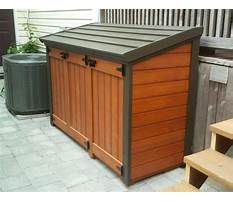 Garbage can storage shed plans Video