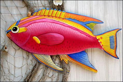 Garden Decor Metal Fish