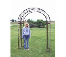 Garden arches metal extra wide Video