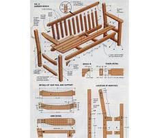 Garden bench plans to build Video