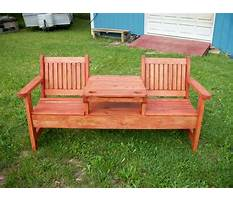 Garden bench with table in middle plans Video