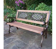 Garden benches cast iron and wood Video