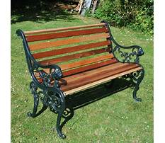 Garden benches cast iron Video