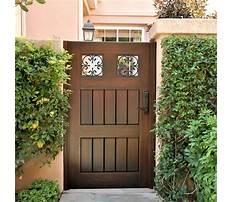 Garden gates wood Video