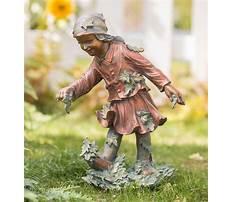 Garden statues of children Video