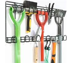 Garden tool rack wall mounted Video