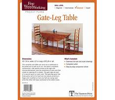 Gate leg table plans Video