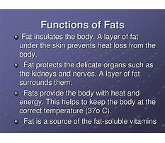 Give the function in the diet of fat Video