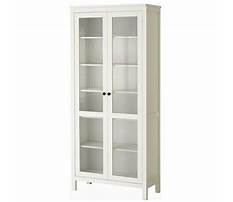 Glass door cabinet white Video