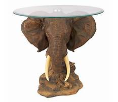 Glass end tables with elephant Video