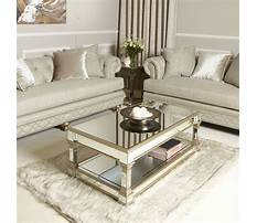 Gold mirror coffee table Video