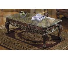 Granite coffee table and end tables Video