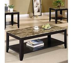 Granite top coffee and end tables Video